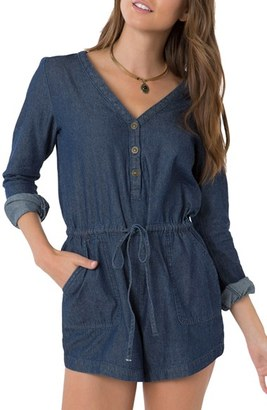 O'Neill Leyna Chambray Romper $59.50 thestylecure.com