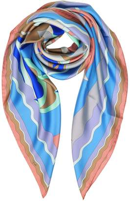 Emilio Pucci Waves Printed Twill Silk Square Scarf