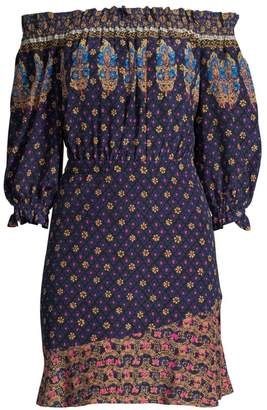Saloni Grace Off-The-Shoulder Mini Dress