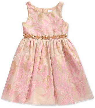 Sweet Heart Rose Toddler Girls Metallic Floral Dress