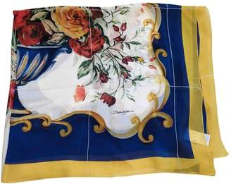 Dolce & Gabbana Blue Silk Scarves