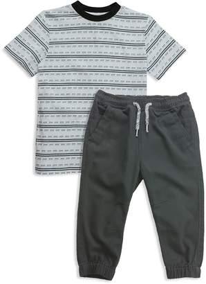 Sovereign Code Boys' Striped Tee & Jogger Pants Set