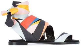 Pierre Hardy zigzag strap sandals