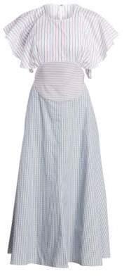Rosie Assoulin Bullseye Cotton Midi Dress