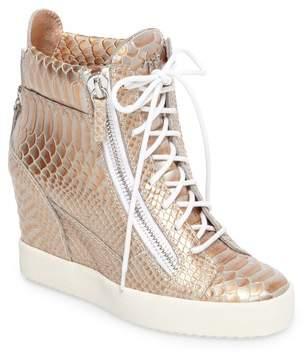 Giuseppe Zanotti Lamay Lorenz High Top Wedge Sneaker