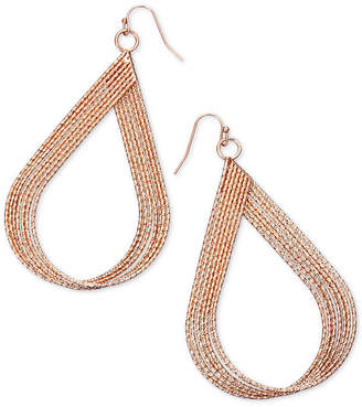 "Thalia Sodi Extra Large 2.5"" Textured Twist Teardrop Earrings"