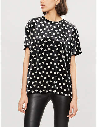 The Kooples Polka dot devoré T-shirt