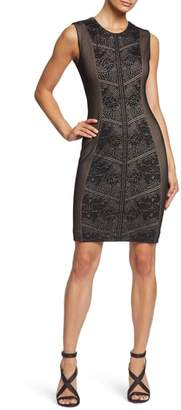 Dress the Population Tori Lace Overlay Body-Con Dress