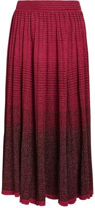 Ulla Johnson Billie Gradient Pleated Maxi Skirt