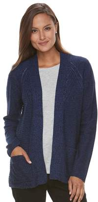 Croft & Barrow Women's Textured Cardigan Sweater