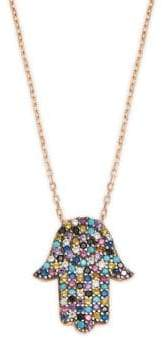 Lord & Taylor Crystal and Sterling Silver Pendant Necklace