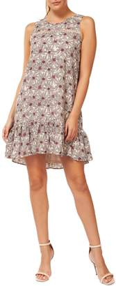 Dex Floral Ruffle-Trimmed Dress
