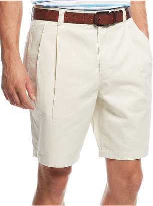Club Room Men's Double-Pleated Cotton Shorts, Created for Macy's