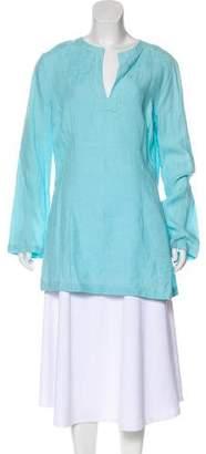 Michael Kors Long Sleeve Woven Top