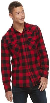 Levi's Levis Men's Lassen Buffalo Plaid Button-Down Shirt