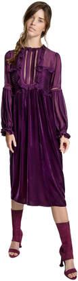 Max Studio velvet ruffled dress