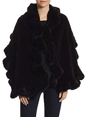 The Fur Salon Women's Knit Mink Scarf