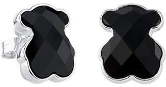 Tous Onyx Bear Stud Earrings
