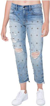 Juicy Couture Dome Stud Embellished Boyfriend Jean