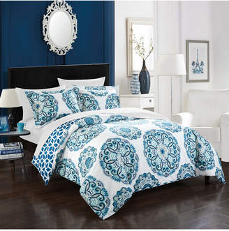 Chic Home Ibiza 7 Piece Full/Queen Bed In a Bag Duvet Set Bedding