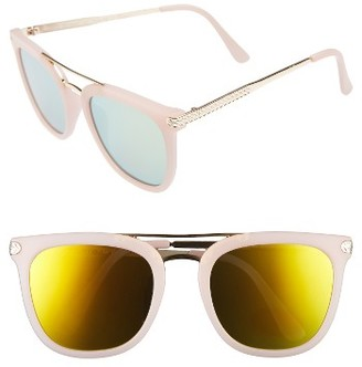 Women's A.j. Morgan Ehh 55Mm Sunglasses - Matte Pink $24 thestylecure.com