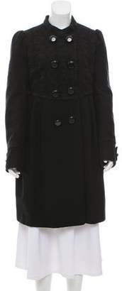 Hanii Y Embroidered Wool Coat