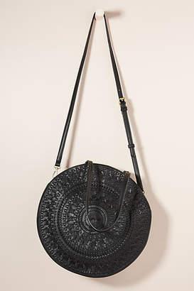 Anthropologie Kelsey Woven Circle Bag