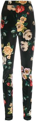 ATTICO floral print skinny trousers
