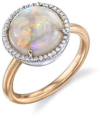 Irene Neuwirth Opal Circle And Diamond Ring