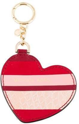 MICHAEL Michael Kors Leather Heart Keychain w/ Tags