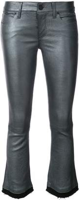RtA cropped raw edge trousers