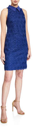 Trina Turk Blend Collared Sleeveless Lace Dress