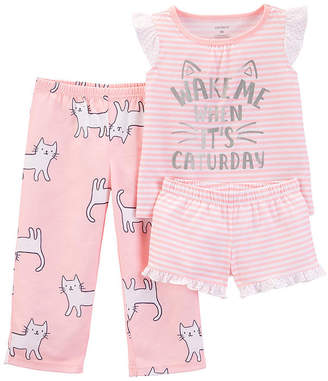 Carter's 3-pc. Pajama Set - Toddler Girls