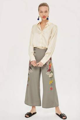 Topshop Embroidered Trousers