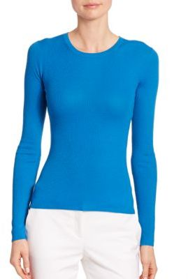 Michael Kors Collection Featherweight Cashmere Crewneck Sweater $595 thestylecure.com
