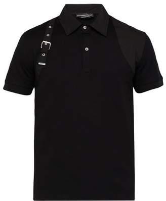 Alexander McQueen Harness Strap Polo Shirt - Mens - Black