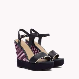 Tommy Hilfiger Basket Weave Platform Wedge Sandal