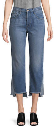 J Brand Wynne Straight-Fit Cropped Jeans