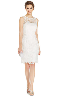 Adrianna Papell Illusion Lace Sheath Dress $179 thestylecure.com