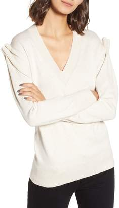 Chelsea28 Pleat Shoulder Sweater