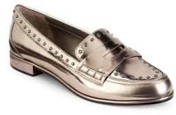 Donna Karan York Metallic Patent Leather Loafers