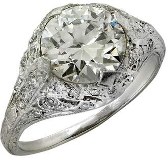 Artdeco Platinum & 2.05ct Diamond Engagement Ring Size 5.25