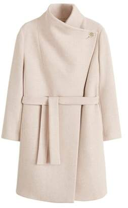 Violeta BY MANGO Wide lapel wool-blend coat