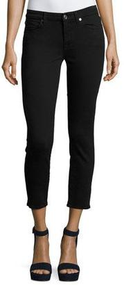 7 For All Mankind Kimmie Cropped Straight-Leg Jeans, B(Air) Black $169 thestylecure.com