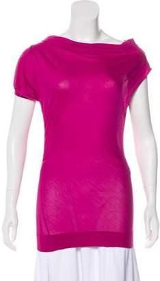 Giambattista Valli Silk One-Shoulder Top