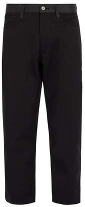 Junya Watanabe Reflective Panelled Cropped Trousers - Mens - Black