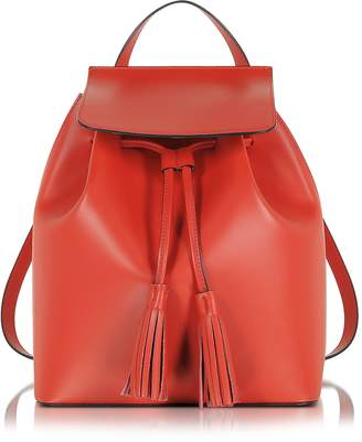 Le Parmentier Red Leather Backpack