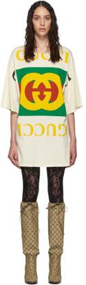 Gucci Off-White Oversized T-Shirt Dress