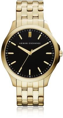 Armani Exchange Hampton Black Dial Gold Tone Stainless Steel Men's Watch