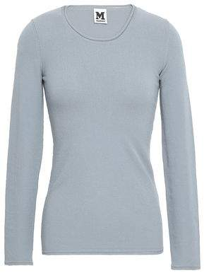 M Missoni Pointelle-trimmed Stretch-knit Sweater